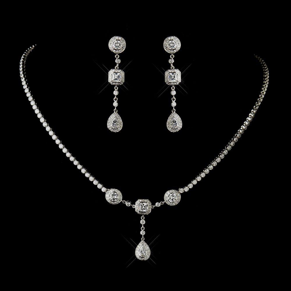 Vintage Inspired CZ Wedding Jewelry Set ne8103-6--Affordable ...