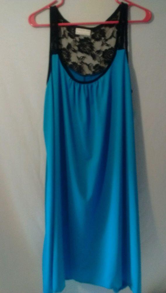 Bobbie Brooks Sleepwear Camisole Lace Plus Size 3X Sexy Pajama Gown Tank Night…