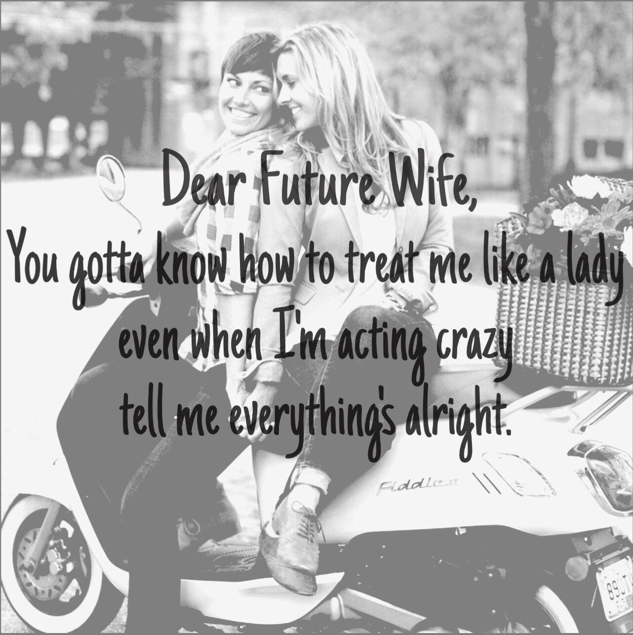 Lesbian Love Quotes Images Dear Future Wife Lesbian Romance Love  Future  Pinterest