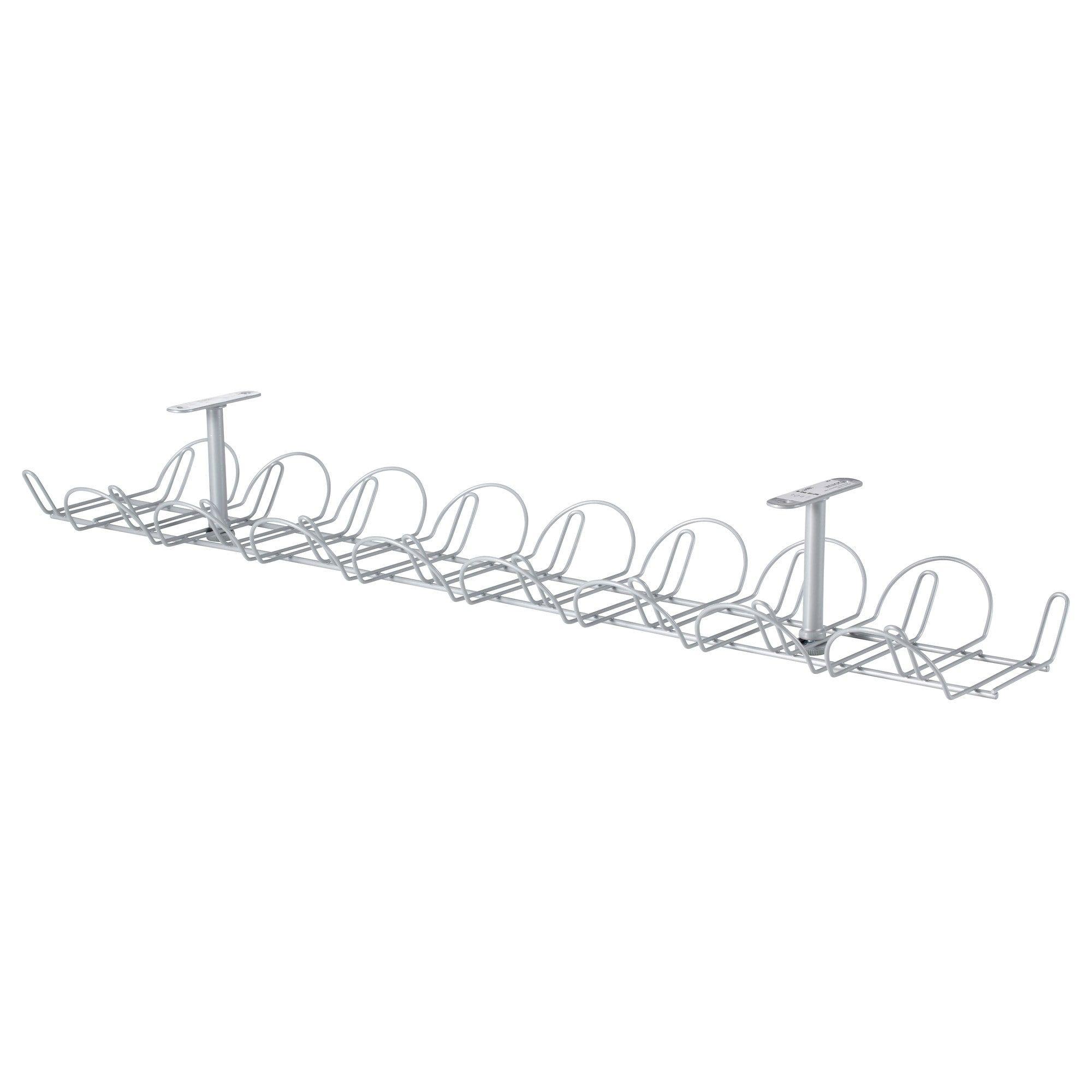 Ikea Signum Silver Color Cable Management Horizontal Cable Management Ikea Cable Organizer