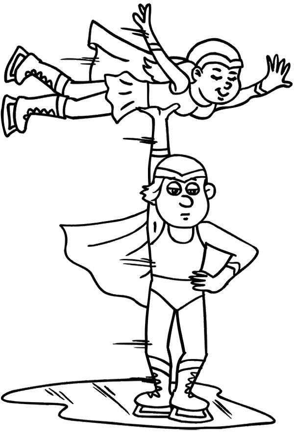 Ice Skating Style Coloring Page | Coloring pages, Coloring ...
