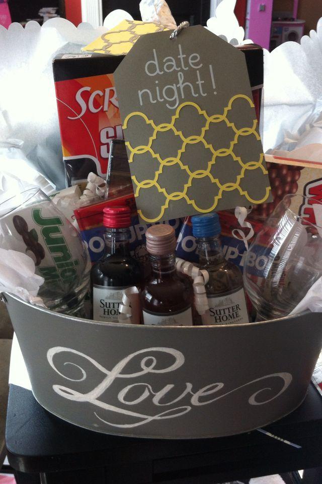 Ideas For Wedding Night Gift Basket : night gift basket ideas movie night gift basket date night gifts night ...