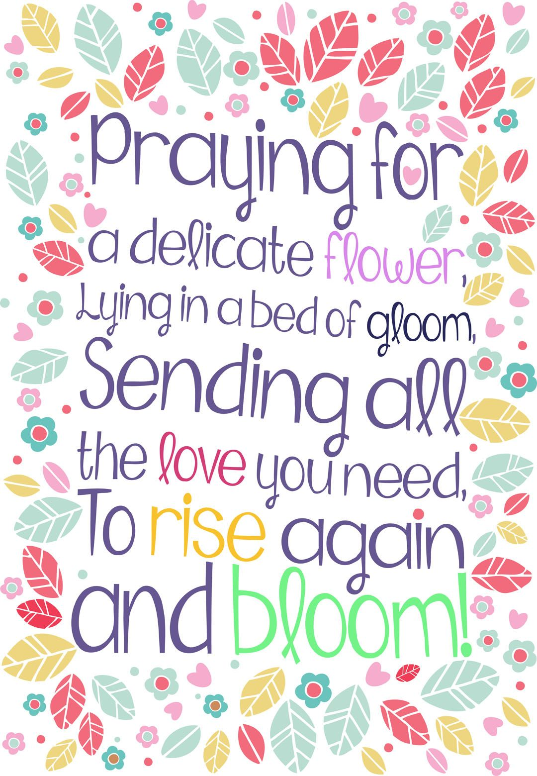 Free printable rise again and bloom get well greeting
