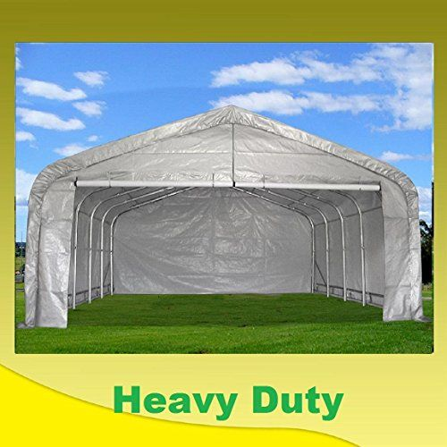 Carports 20x22 Carport Greywhite Waterproof Storage Canopy Shed Car Truck Boat Garage By Delta Canopi Wedding Canopy Outdoor Canopy Outdoor Backyard Canopy