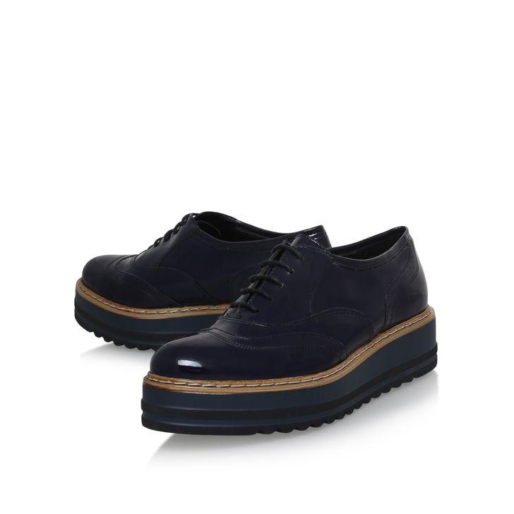 Lasting Navy Flat Brogue Shoes By Carvela Kurt Geiger | Kurt Geiger