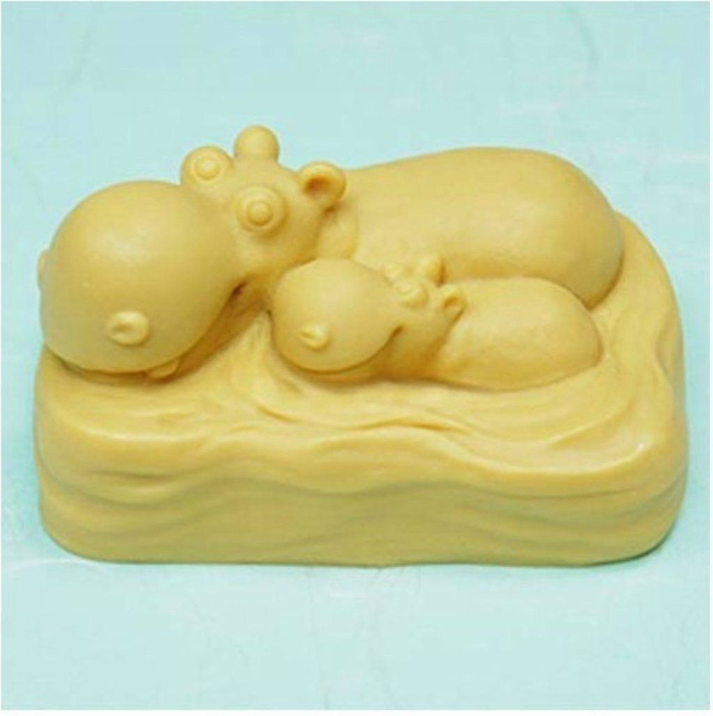 Hippo family 50330 Craft Art Silicone Soap mold Craft Molds DIY Handmade soap molds -- Click image to review more details.