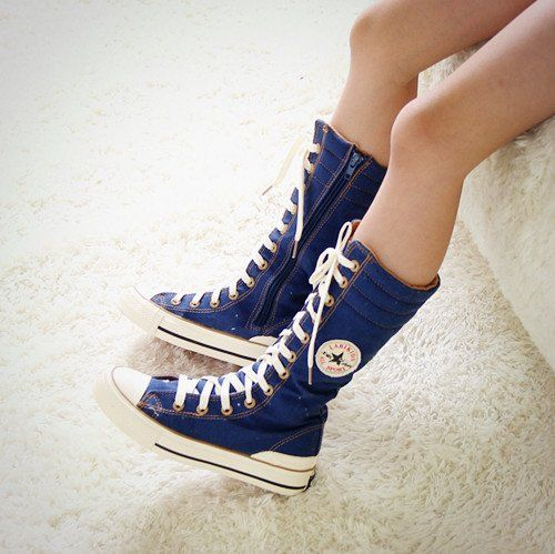 Hi-Top-Canvas-Casual-Punk-Platform-Sneakers-girls-Knee-High-Boots ...