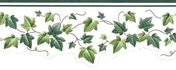 Patton Gh74104b Leaf Trail Wallpaper Border Green The