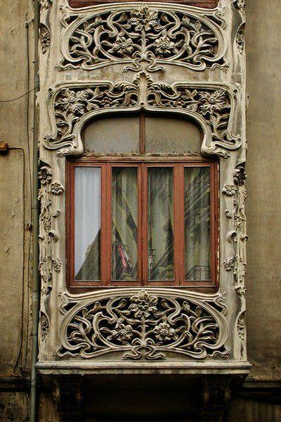 Art nouveau window - Granada, Spain