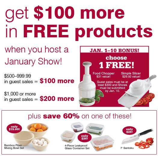 Host A Catalog Or Cooking Show In January