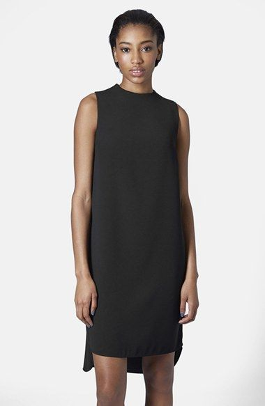 4eecf697f28e Free shipping and returns on Topshop Mock Neck Tunic Dress at  Nordstrom.com. Whisper-soft fabric is shaped into an ethereal sleeveless  shift dress styled ...