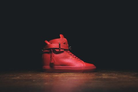 Buscemi Wmns 100mm Alta Red Red Kith Nyc Onfeet Red