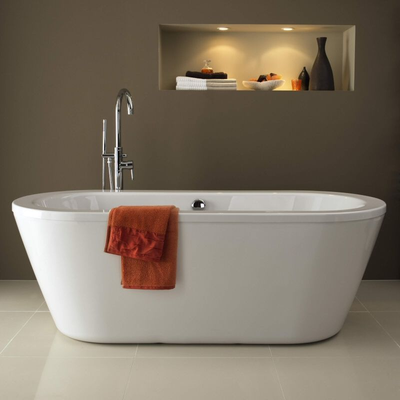 Pool Double Ended Rounded Freestanding Bath