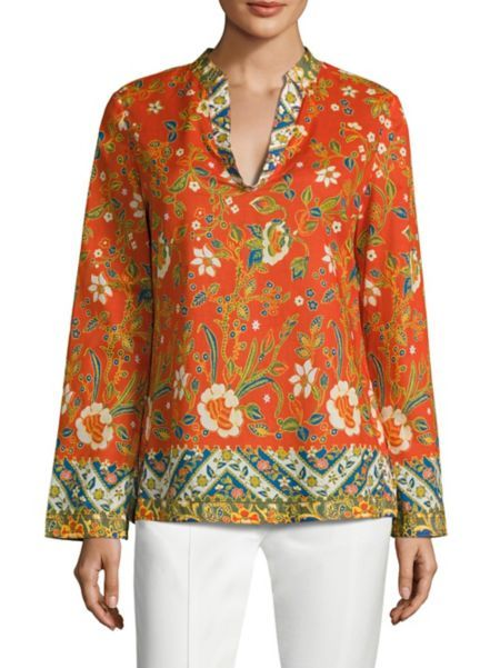 e5066136f84 Tory Burch - Stephanie Floral-Print Cotton Poplin Tunic | Tunic ...