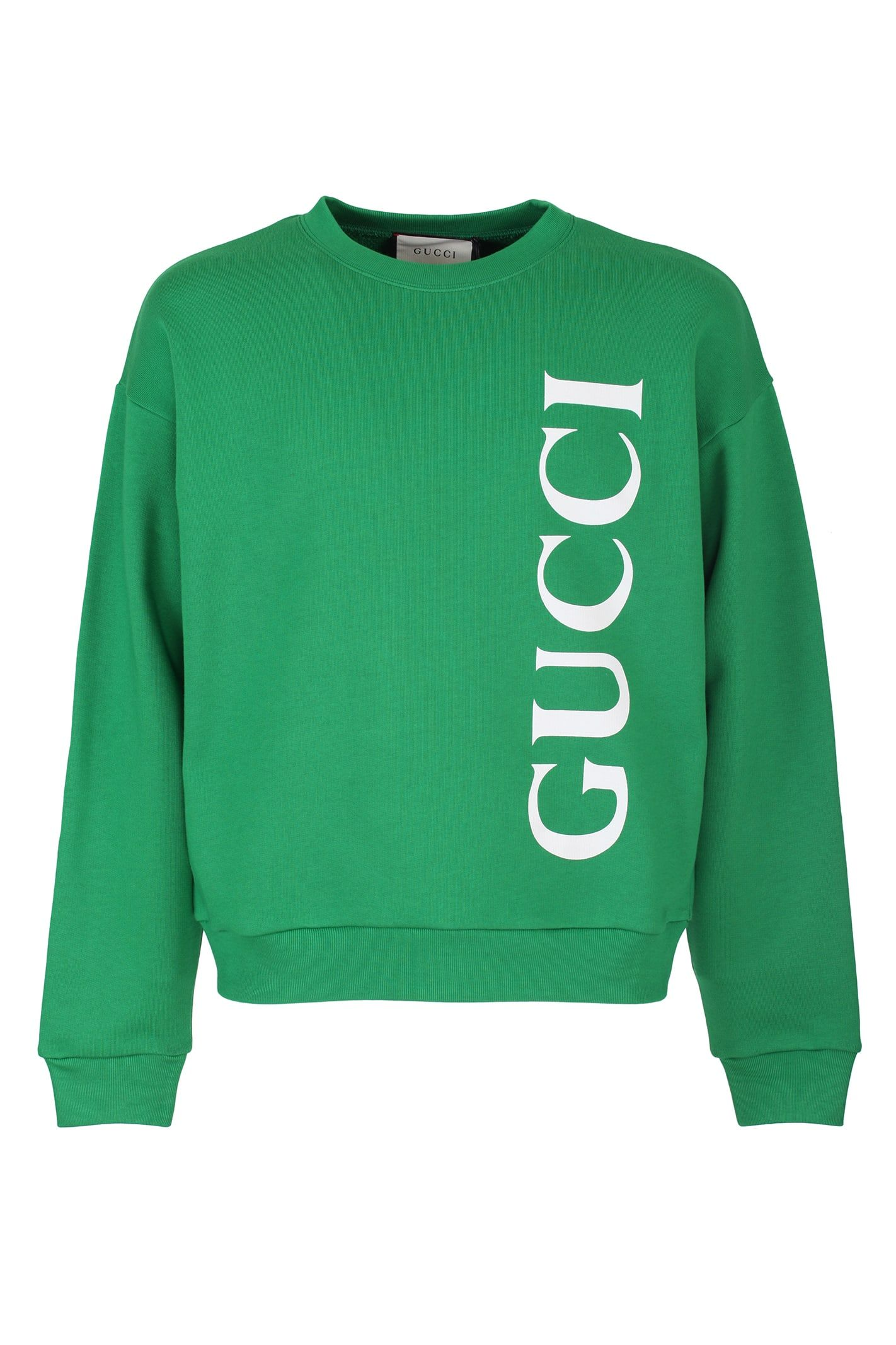 Best Price On The Market At Italist Gucci Gucci Green Cotton Jersey Sweatshirt Sweatshirts Sweatshirt Designs School Shirt Designs [ 2133 x 1422 Pixel ]