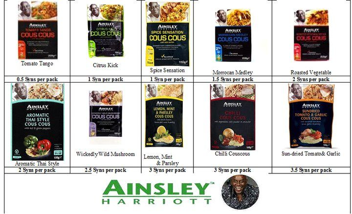 Ainsley Harriot Cous Cous Syns Slimming World Dinners Slimming