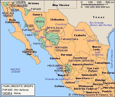 Indigenous Tribes Of Mexico Map.Mesoamerican Indian Maps Ancient And Modern Pinterest Indian