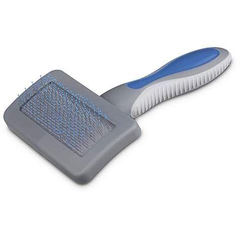 Well & Good Blue Cushion Slicker Cat Brush Designed for