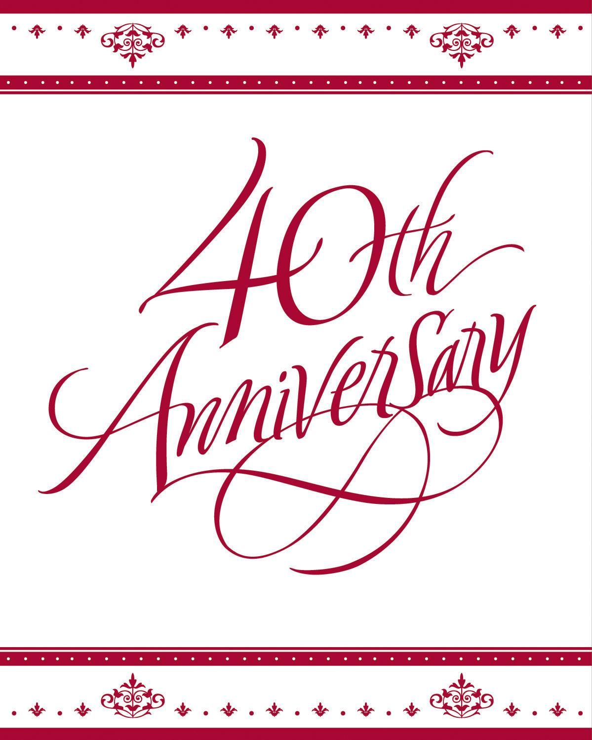 Our Stafford Ruby 40th Wedding Anniversary Invitation Set feature an ...