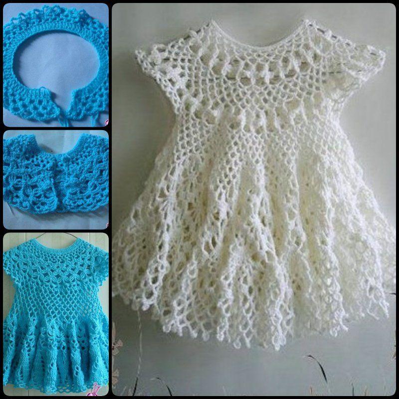 20+ Crochet Girl Dress with Free Pattern | Frei, Muster und Häkeln