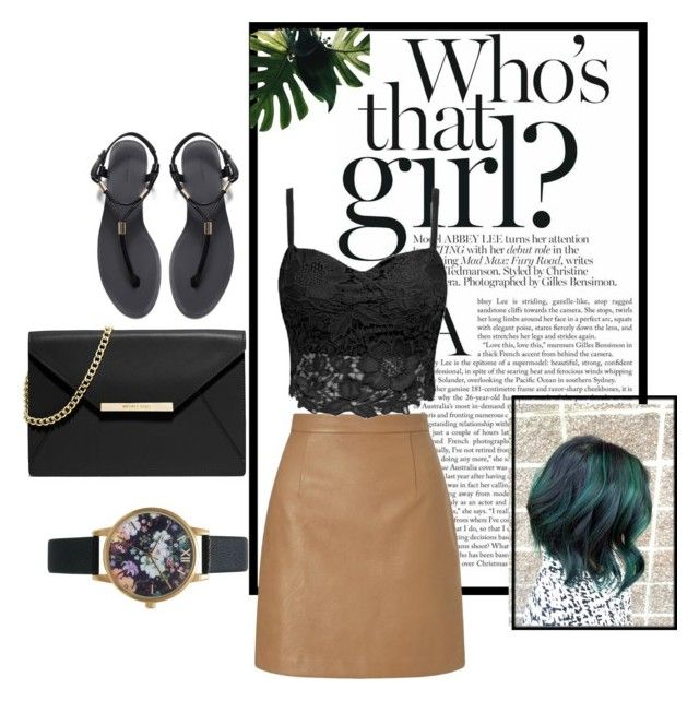 """""""Who's That Girl"""" by angelisa15 ❤ liked on Polyvore featuring MICHAEL Michael Kors, Lipsy, Zara and Olivia Burton"""