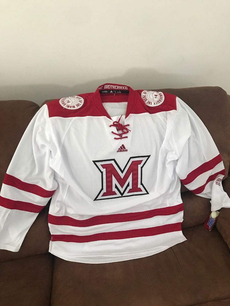 Adidas Miami University Redhawks Ohio Ncaa Hockey Jersey NWT Size M Men  8f7de3cc5