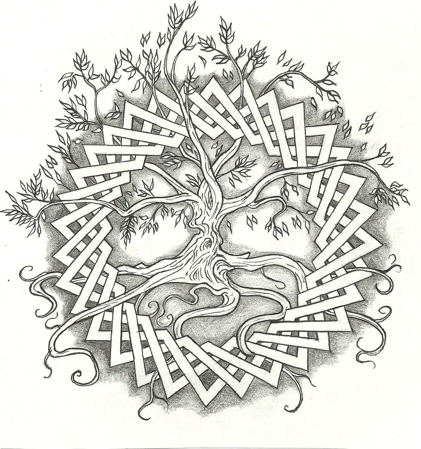 wiccan coloring pages | Celtic Tree Life Tattoo Designs ...