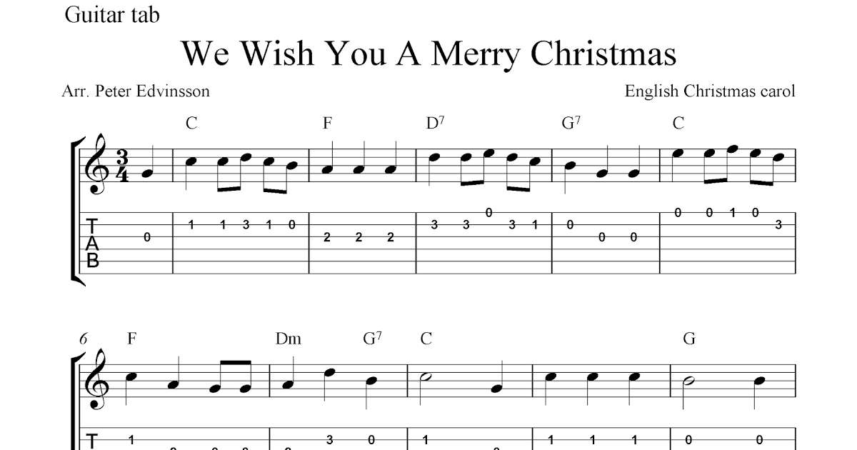 We Wish You A Merry Christmas Guitar Chords Easy Gallery Basic