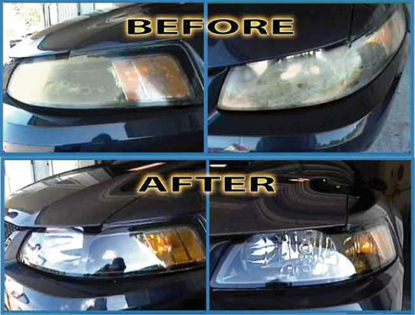 how to clean foggy headlights at home