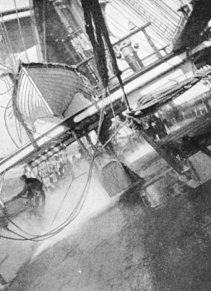 A HEAVY ROLL during a squall when rounding Cape Horn. This photograph, taken in the Garthsnaid