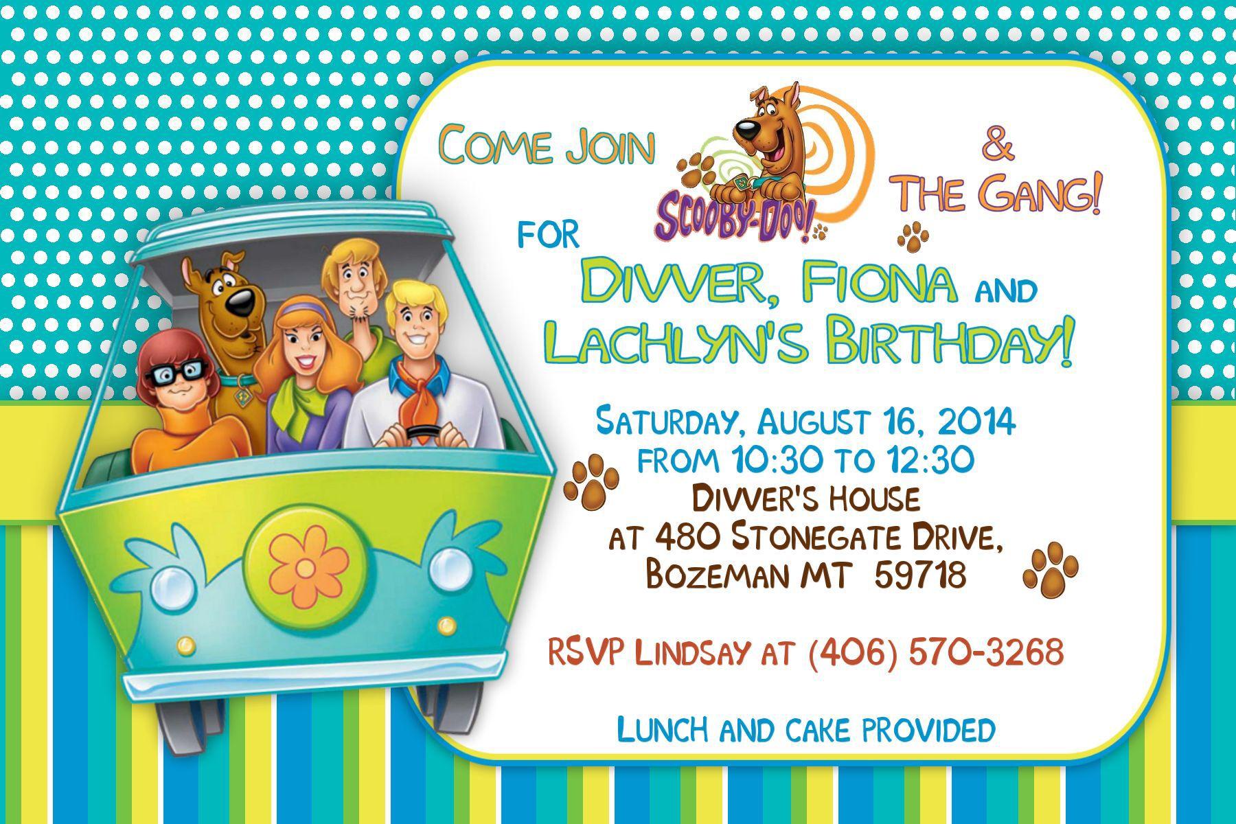 Scooby Doo invitation | cumpleaños | Pinterest | Scooby doo ...