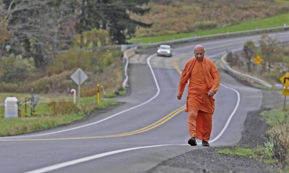 Dandavats | Hare Krishna monk on spiritual journey, passes through Rayburn