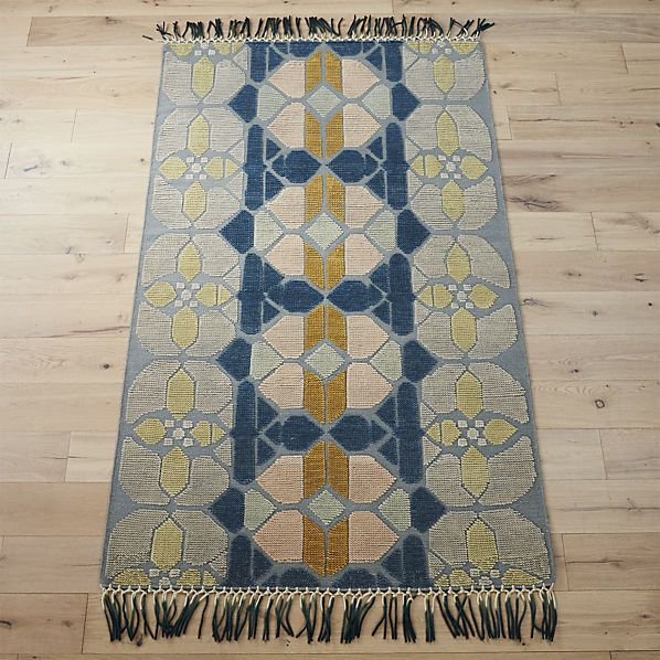 Perfect Hand Knotted Stained Glass Rug | CB2 Images