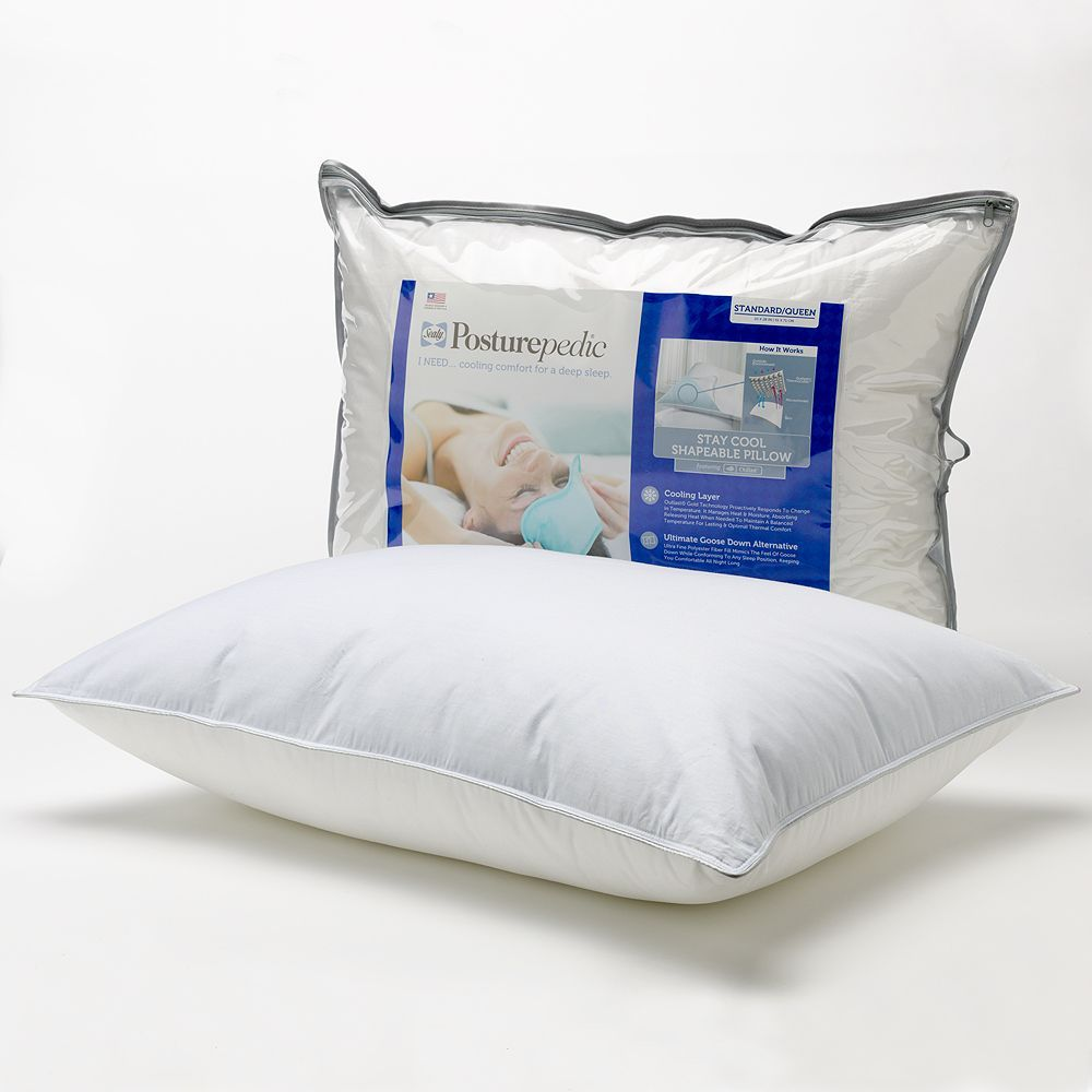 Sealy Stay Cool Down Alternative Shapeable Pillow Standard