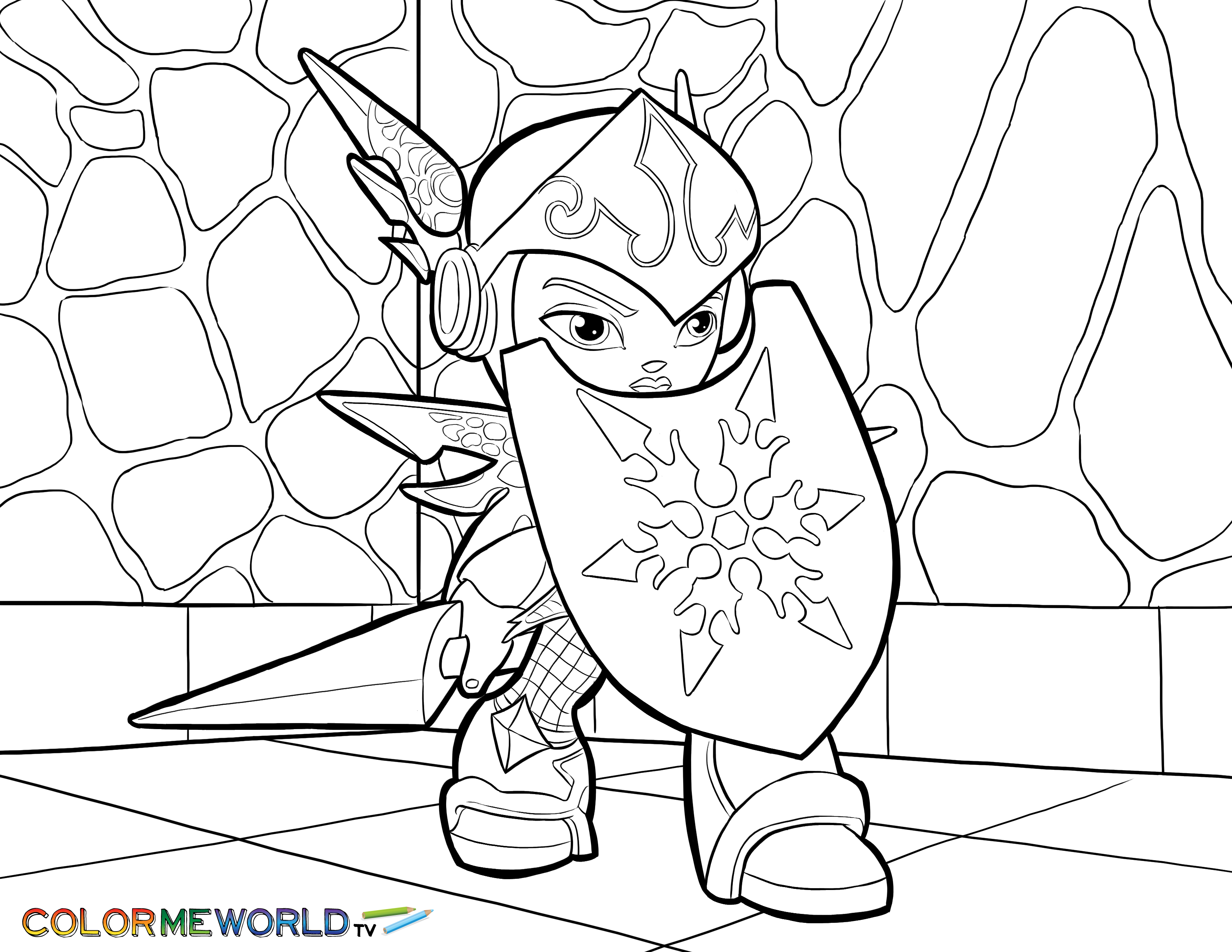 ninjini coloring pages free printable for kids - Skylander Coloring Pages Tree Rex
