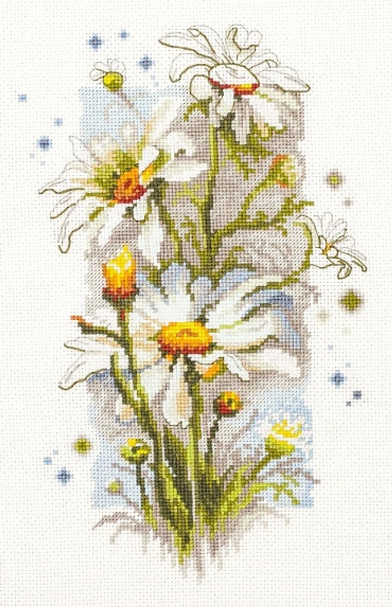 18 x 24cm Magic Needle Counted cross stitch kit Cosmos Flowers
