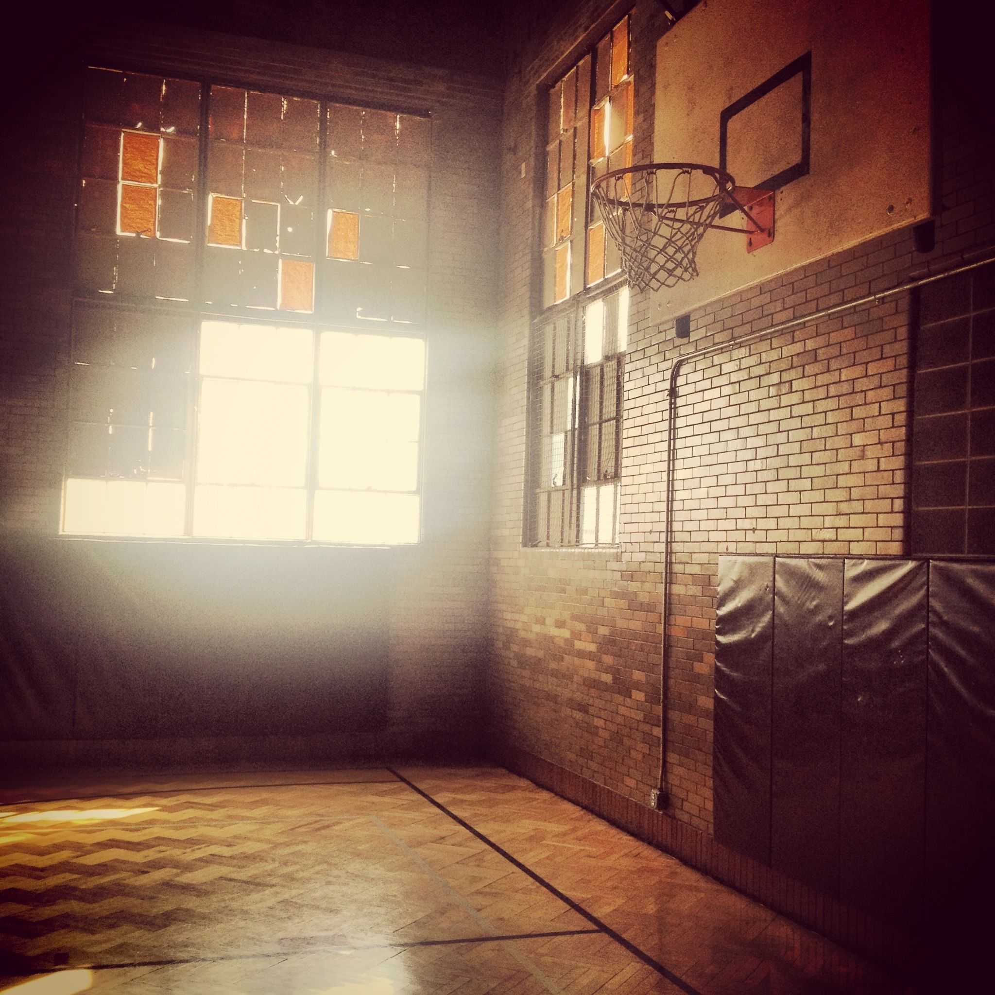 an awesome old gym located in the harrison arts center downtown