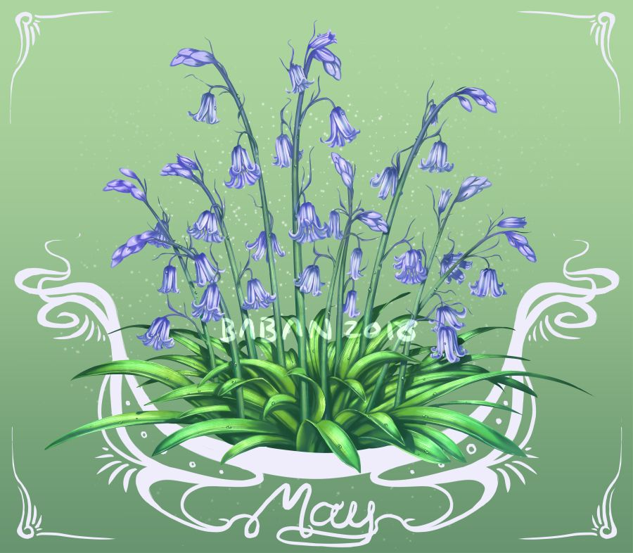May Bluebells by BabaKinkin Birth month flowers