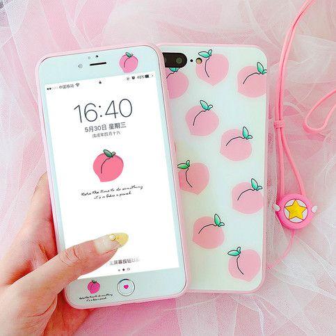 Cute Peach Phone Case for iphone 6/6s/6plus/7/7plus/8/8p/X ...