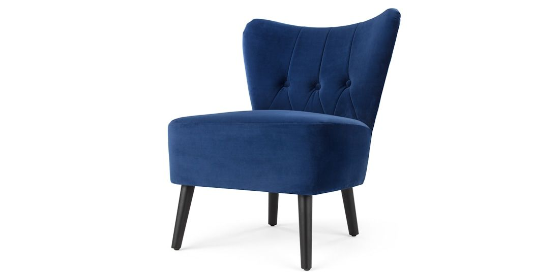 Best Made Electric Blue Velvet Armchair Blue Velvet Chairs 400 x 300