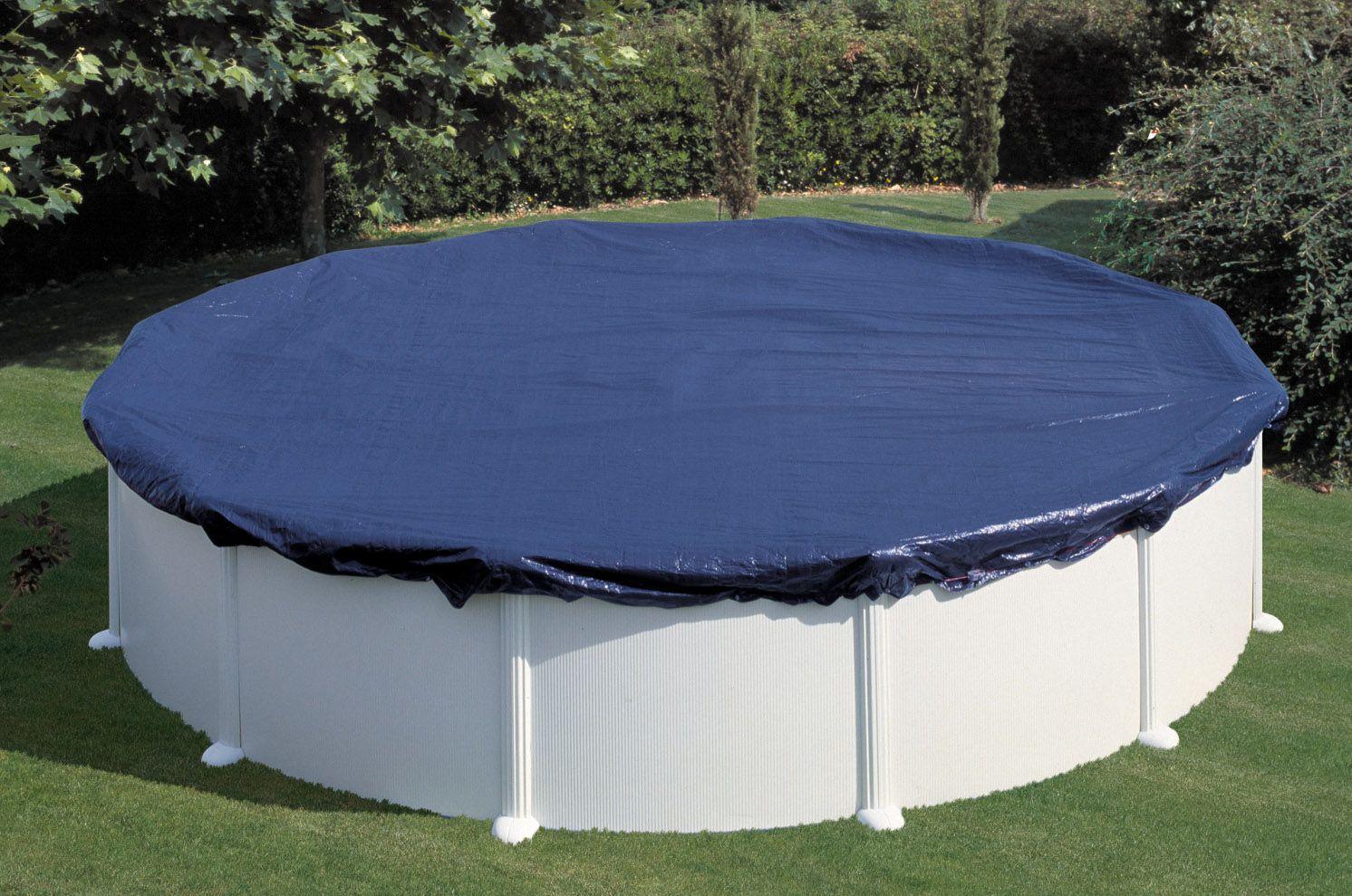 Cuando llegue el fr o tapa tu piscina desmontable con una for Coste mantenimiento piscina
