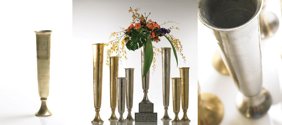 Tall Gold Vases For Centerpieces Filled With Babys Breath Ml