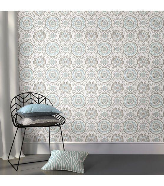 Wallpops Nuwallpaper Mirabel Medallion Peel And Stick Wallpaper Joann Wall Decals Nuwallpaper Kitchen Remodel Layout