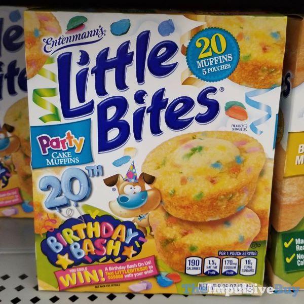 Entenmanns Little Bites 20th Birthday Bash Party Cake Muffins