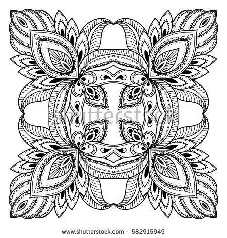 Vector henna tatoo mandala. Mehndi style. Decorative pattern in ...