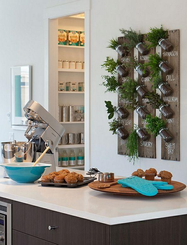 neujahrsvorsätze kräutergarten vertikal holzbretter Küche