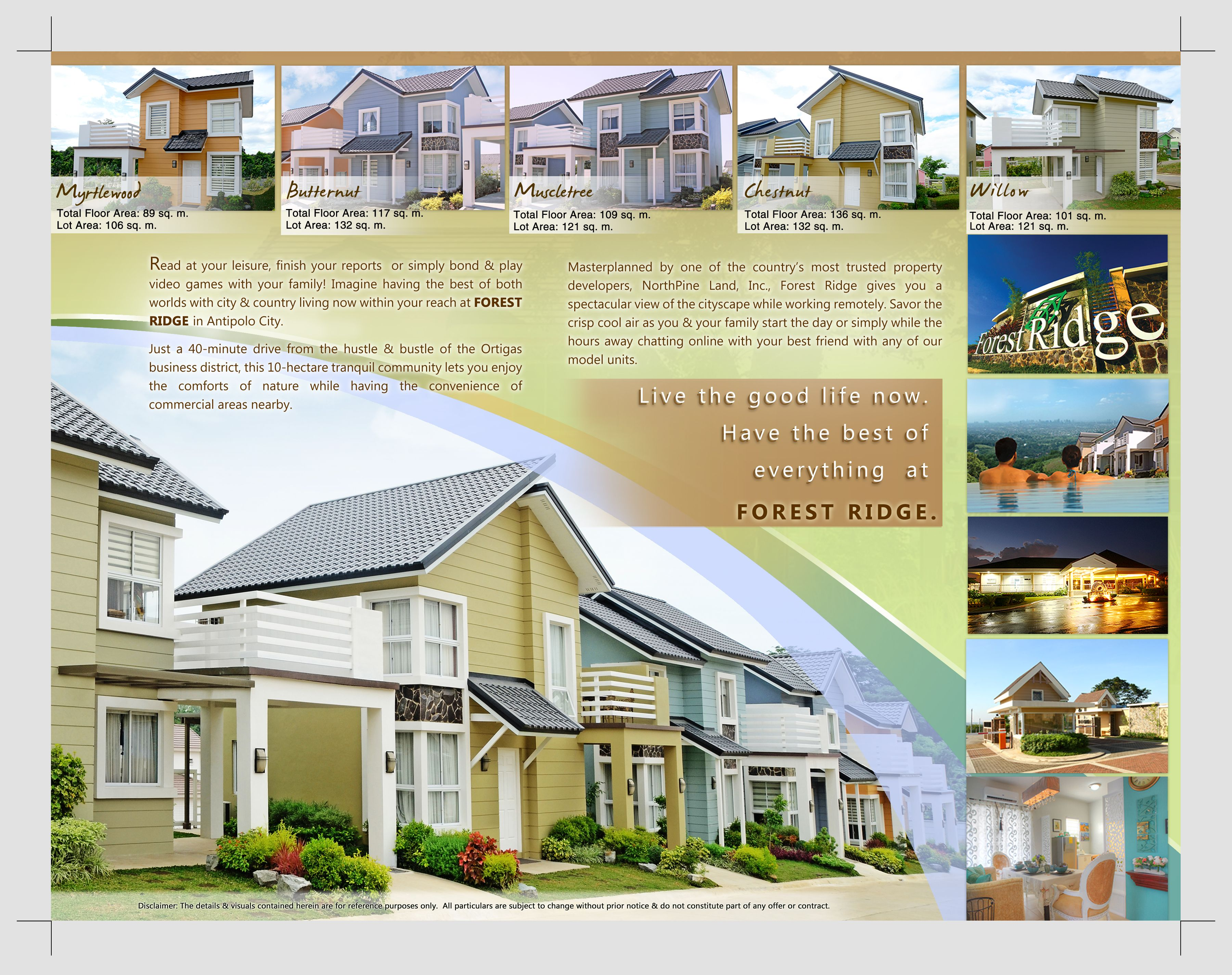 Awesome Tropicalized American Country Homes At FOREST RIDGE In Antipolo City,  Philippines
