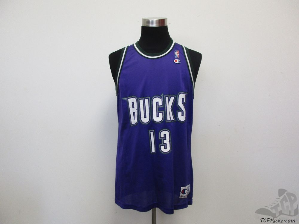 Vtg 90s Champion Milwaukee Bucks Glenn Robinson Big Dawg Basketball Jersey sz 48 #Champion #MilwaukeeBucks #tcpkickz