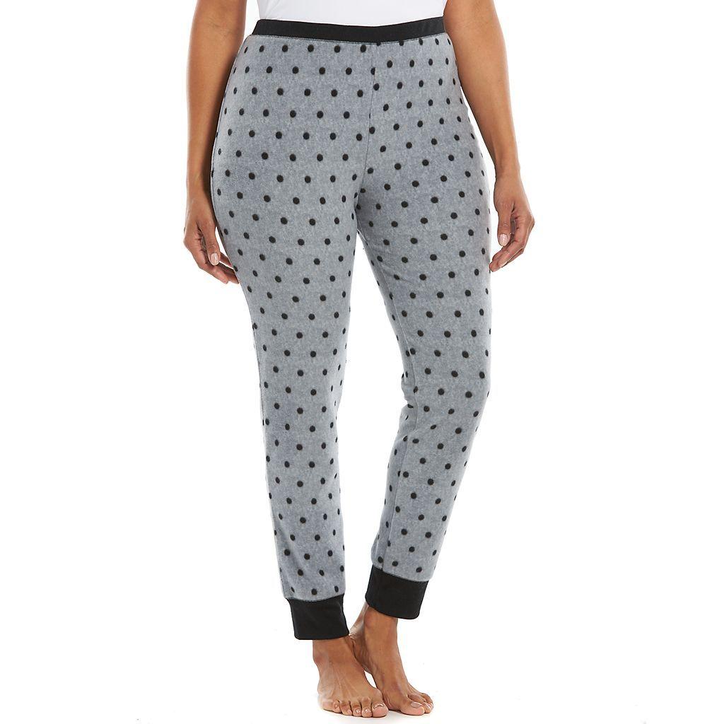 7cd2b5aa1b9a Plus Size Jaclyn Intimates Pajamas: SuperSpan Fleece Sleep Leggings ...