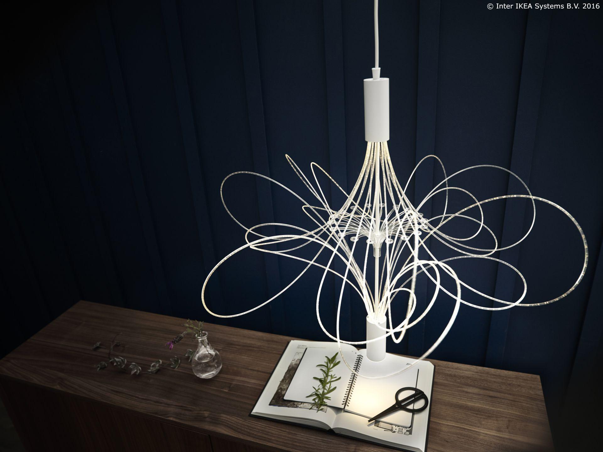 """Uz atraktivan dizajn """"LVSBYN LED lustera svjetlo postaje """"mrak"""